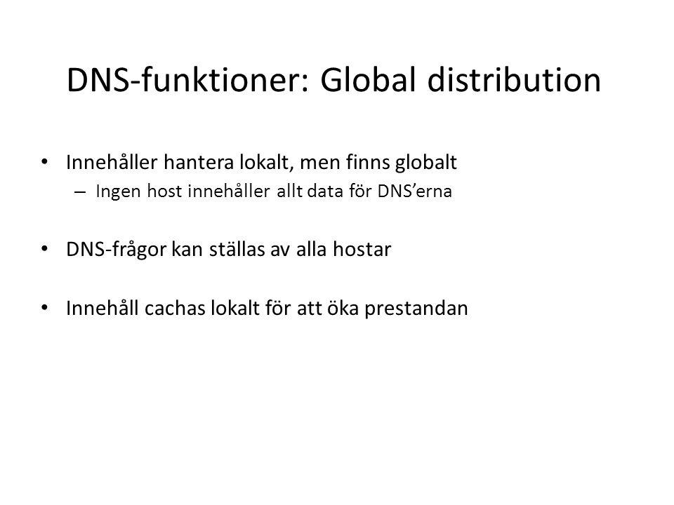 DNS-funktioner: Global distribution