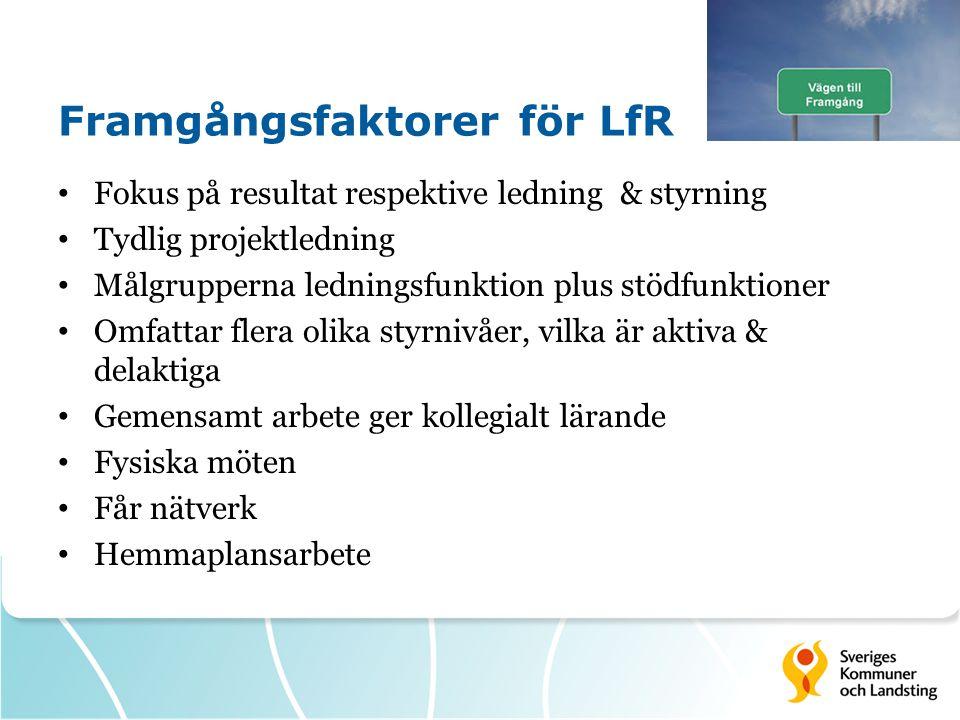 Framgångsfaktorer för LfR