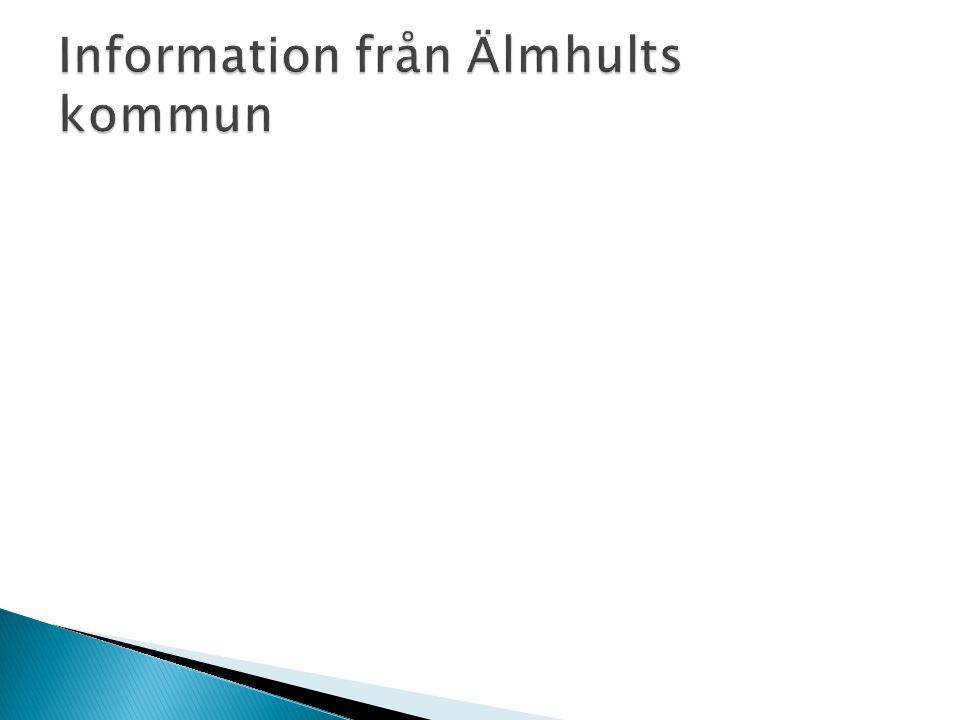 Information från Älmhults kommun