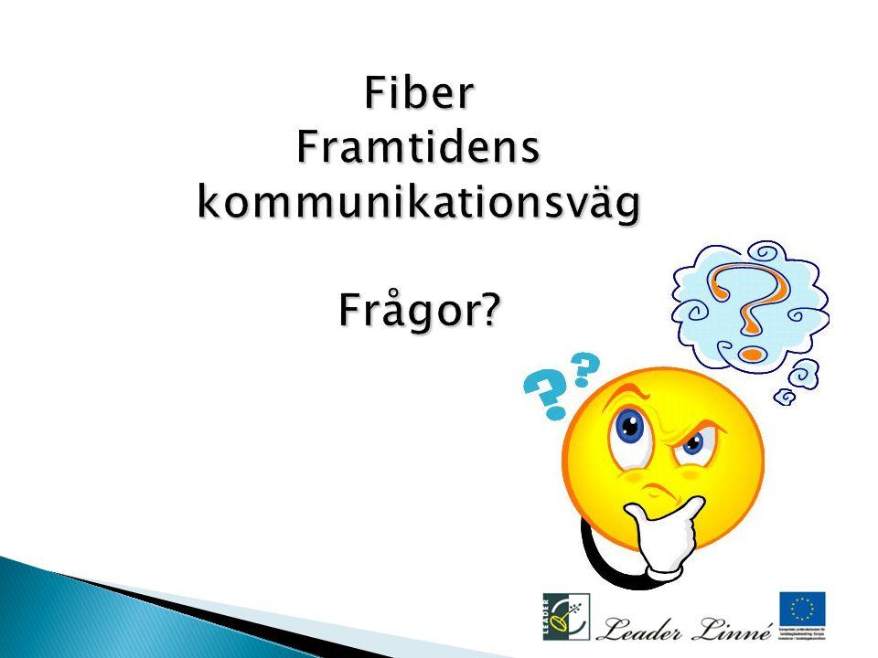 Fiber Framtidens kommunikationsväg Frågor