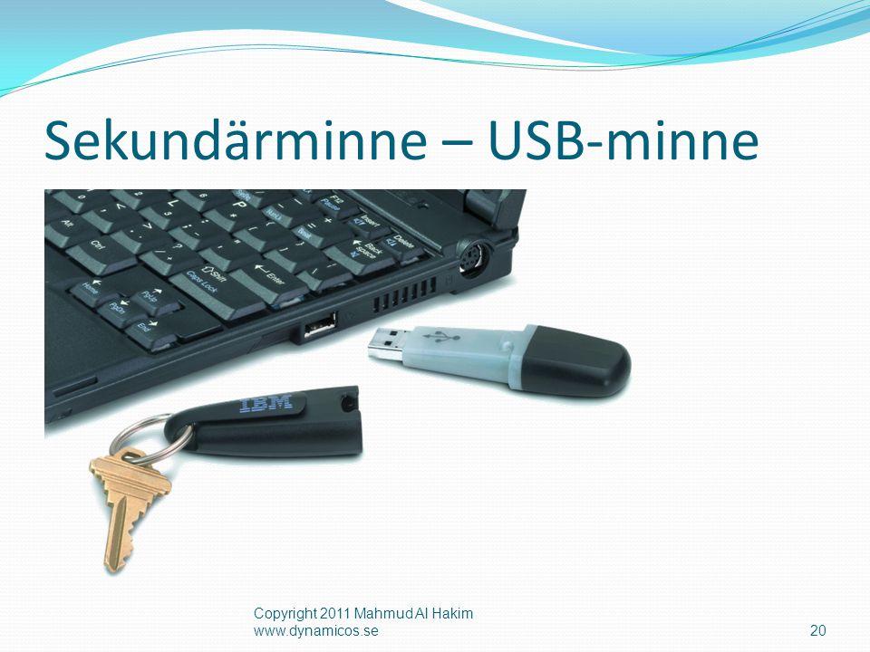 Sekundärminne – USB-minne