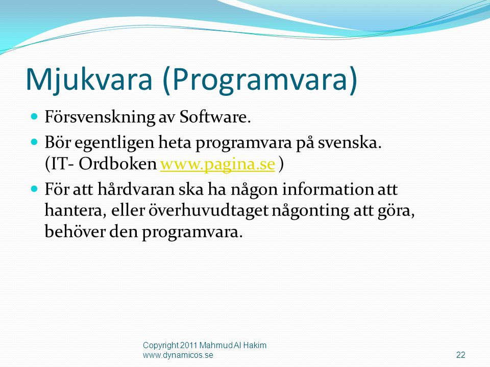 Mjukvara (Programvara)