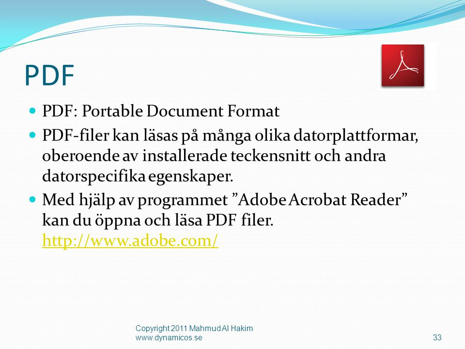 PDF PDF: Portable Document Format