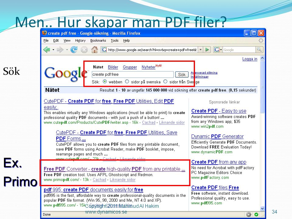 Men.. Hur skapar man PDF filer