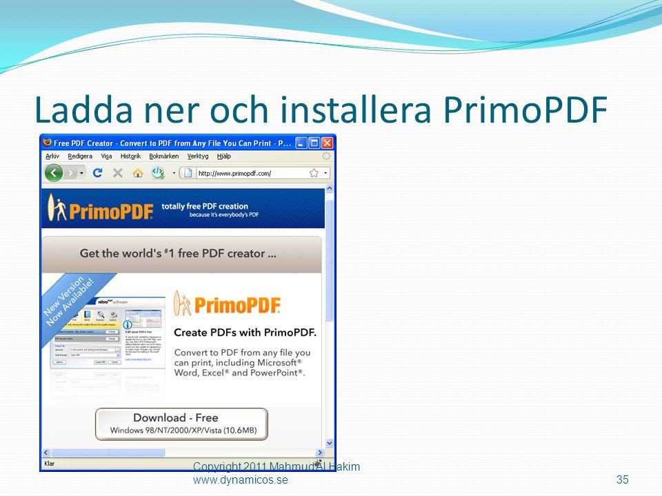 Ladda ner och installera PrimoPDF