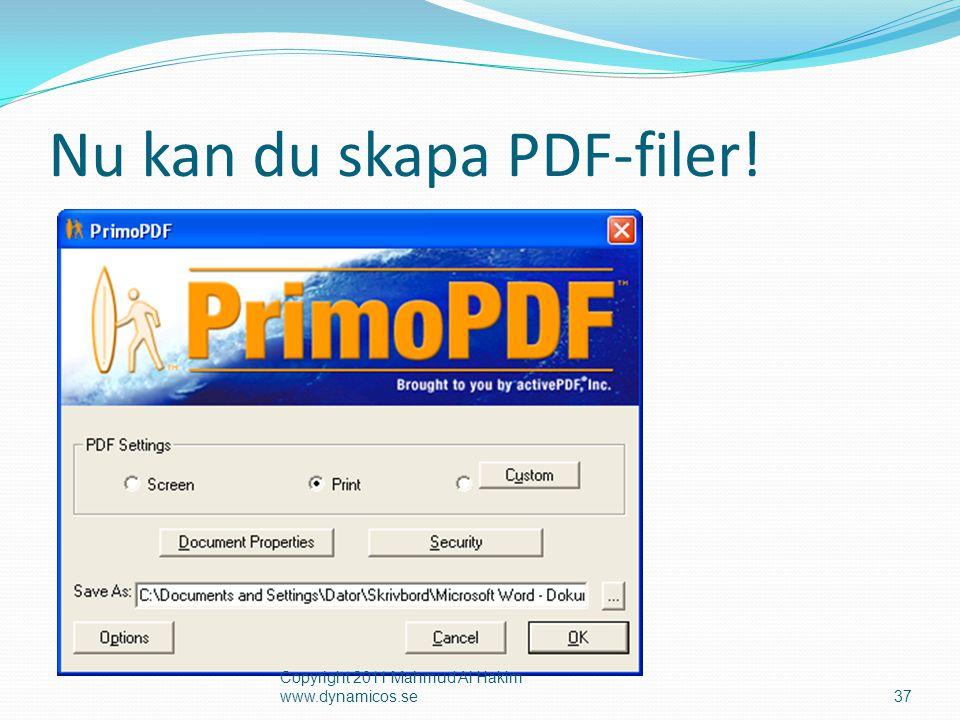 Nu kan du skapa PDF-filer!