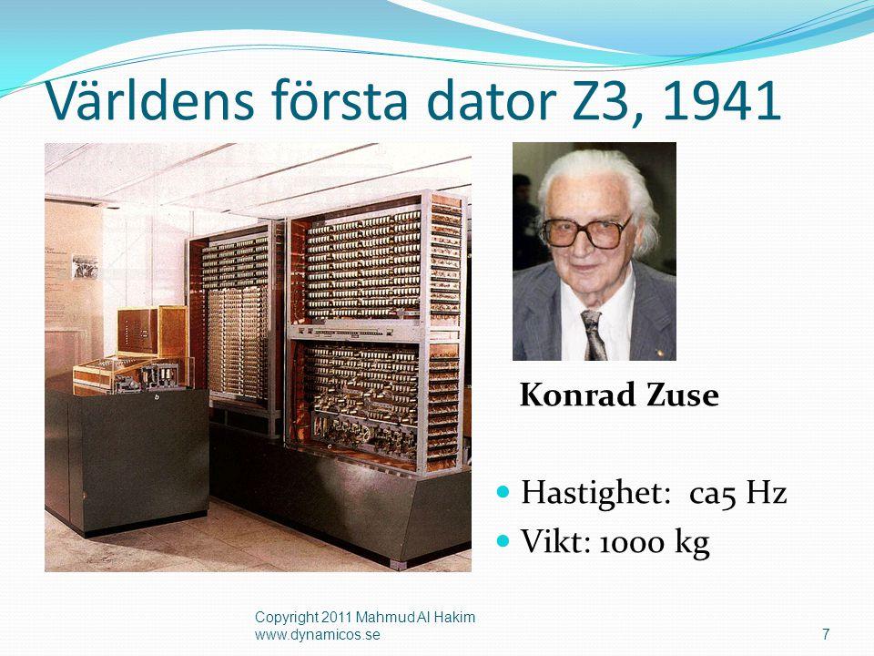 Världens första dator Z3, 1941