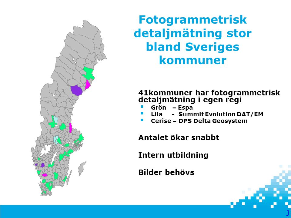 Fotogrammetrisk detaljmätning stor bland Sveriges kommuner