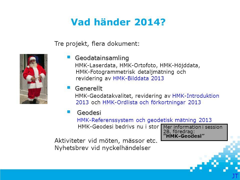 Vad händer 2014 Tre projekt, flera dokument: