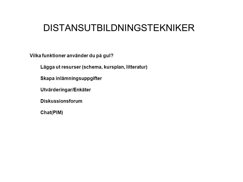 DISTANSUTBILDNINGSTEKNIKER