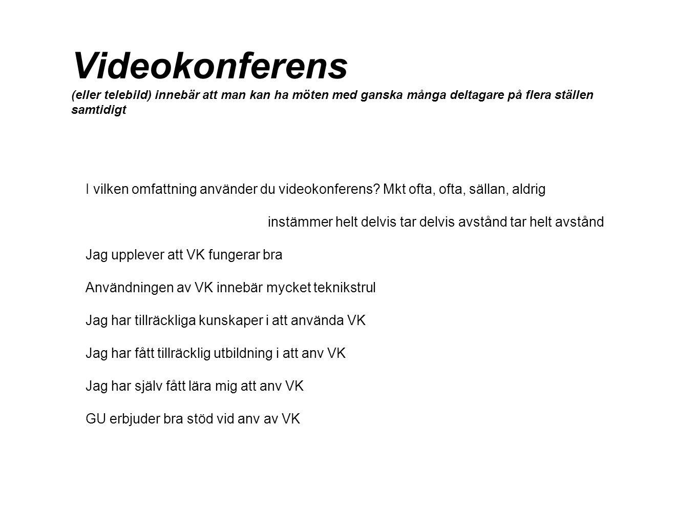 Videokonferens (eller telebild) innebär att man kan ha möten med ganska många deltagare på flera ställen samtidigt