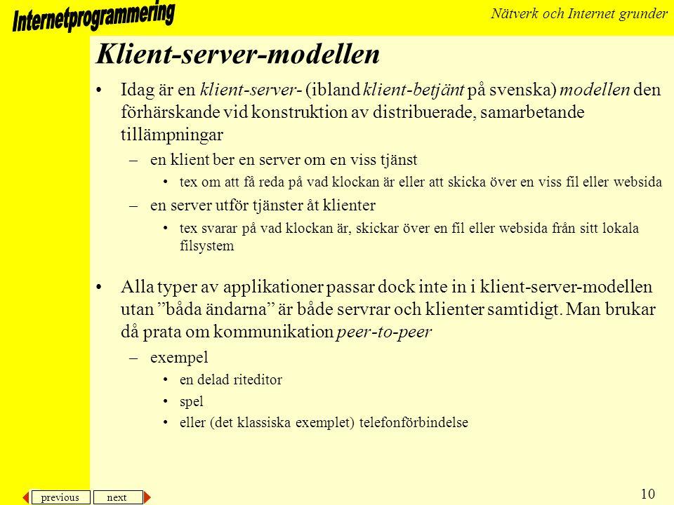 Klient-server-modellen