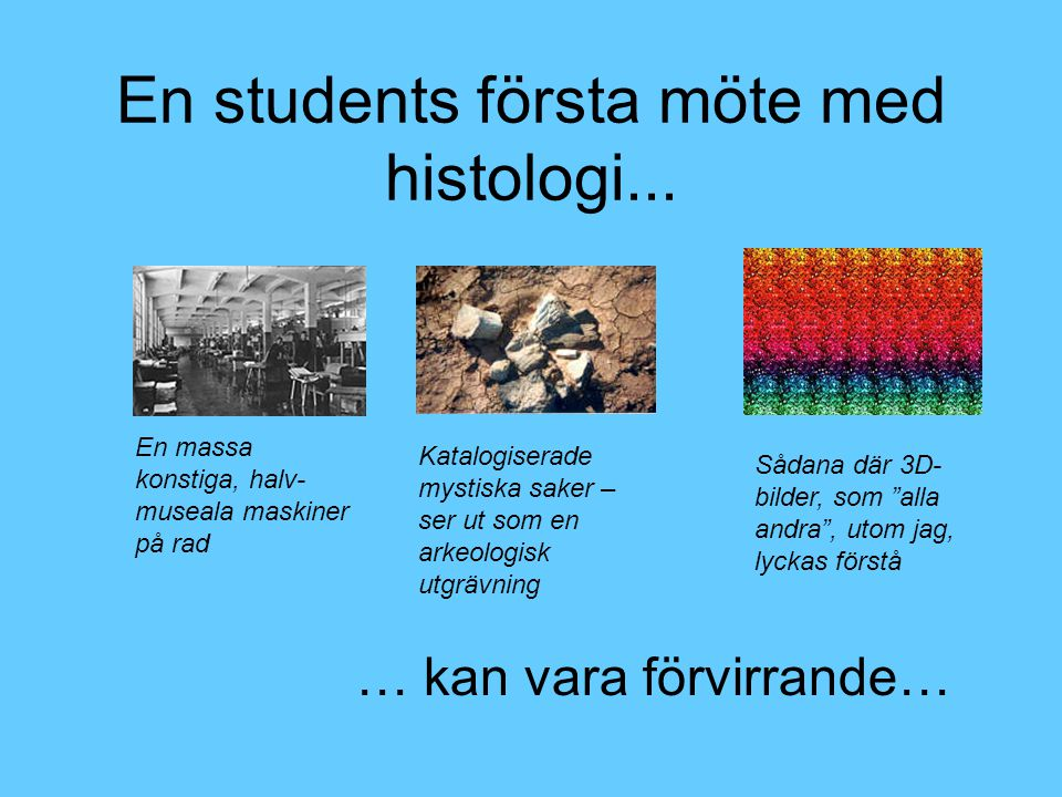 En students första möte med histologi...