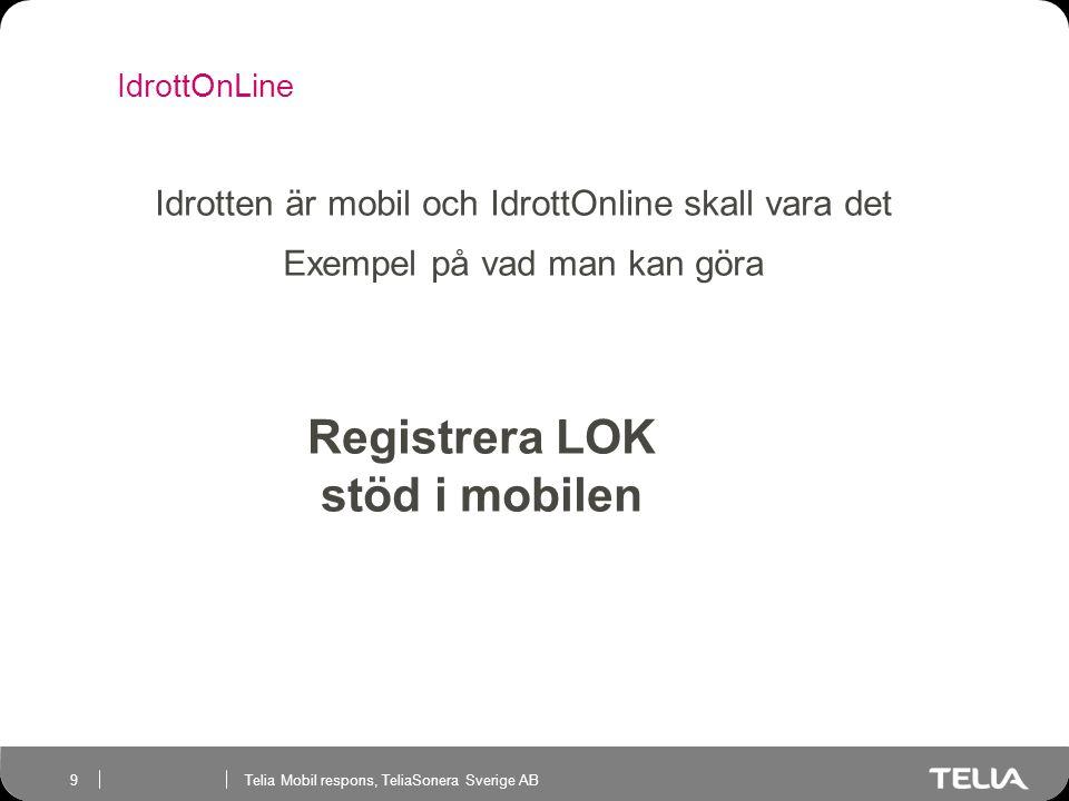 Registrera LOK stöd i mobilen