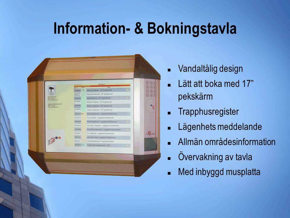 Information- & Bokningstavla