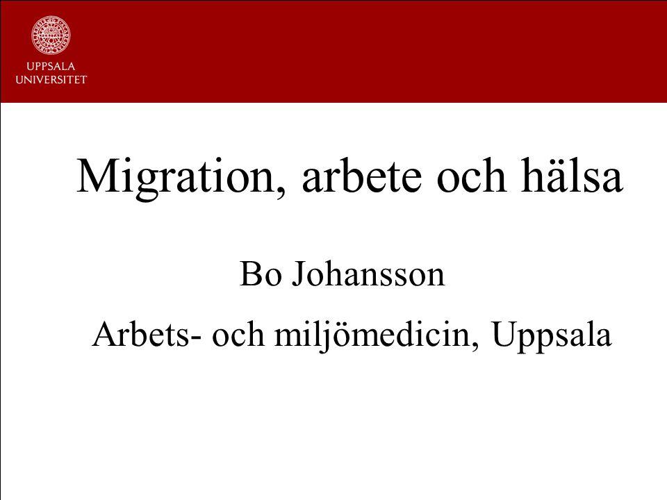 Migration, arbete och hälsa