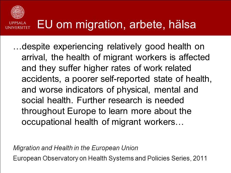 EU om migration, arbete, hälsa