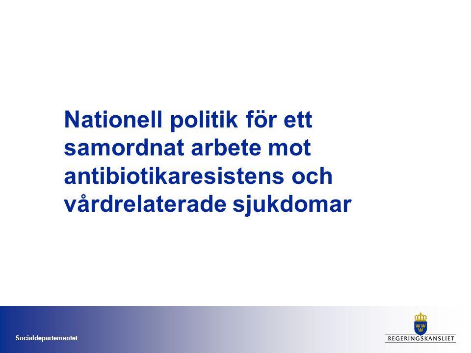 Nationell politik för ett samordnat arbete mot antibiotikaresistens och vårdrelaterade sjukdomar