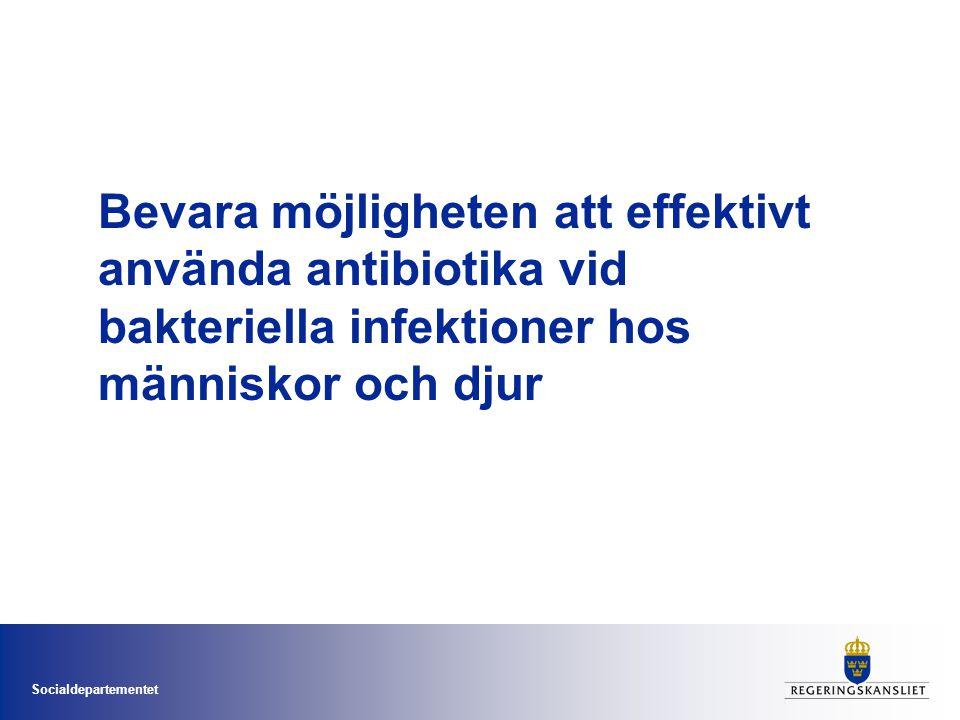 Bevara möjligheten att effektivt använda antibiotika vid bakteriella infektioner hos människor och djur