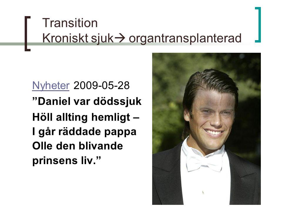 Transition Kroniskt sjuk organtransplanterad