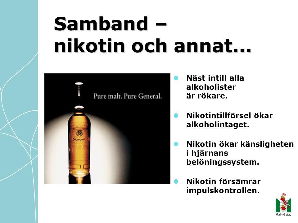 Samband – nikotin och annat...