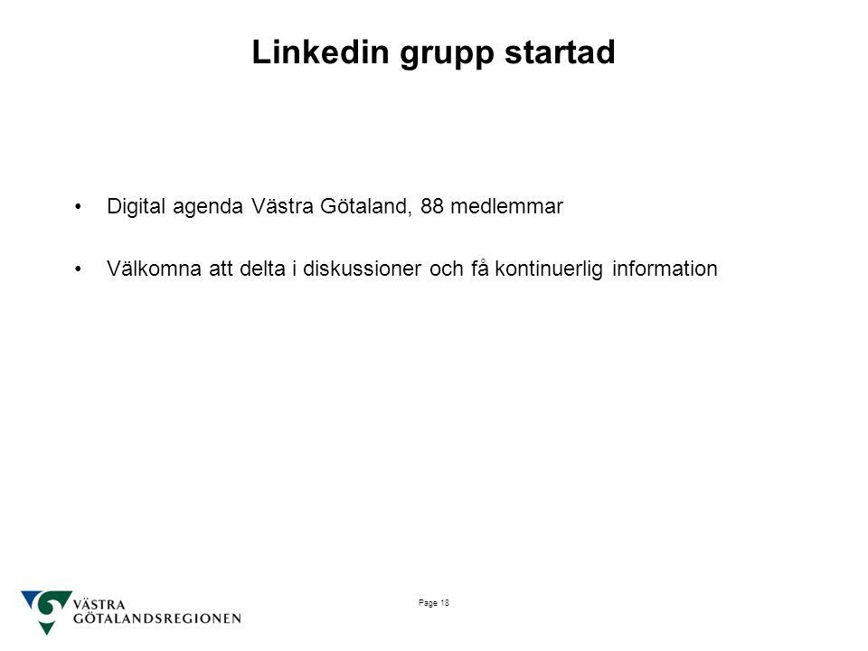 Linkedin grupp startad