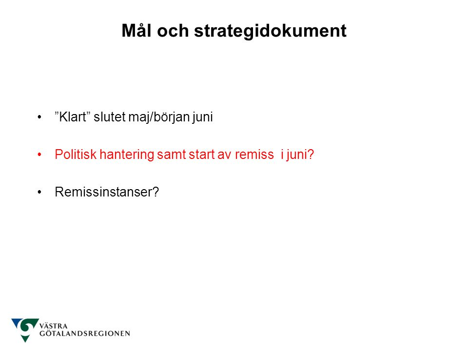 Mål och strategidokument