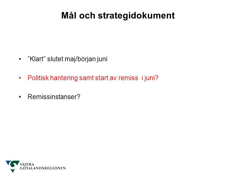 Mål och strategidokument