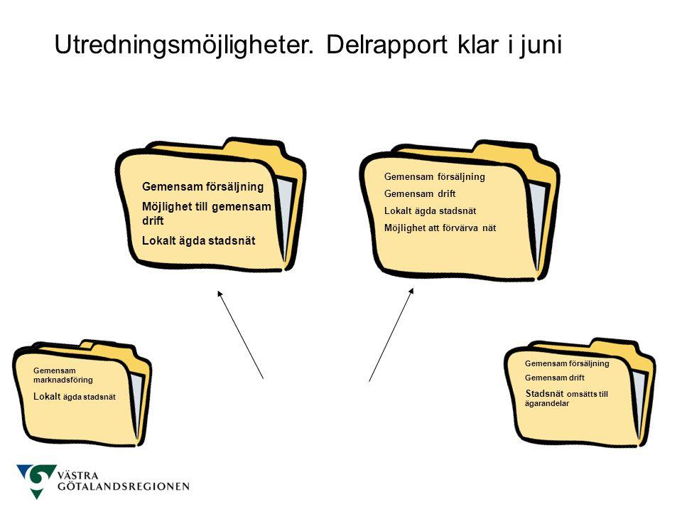 Utredningsmöjligheter. Delrapport klar i juni