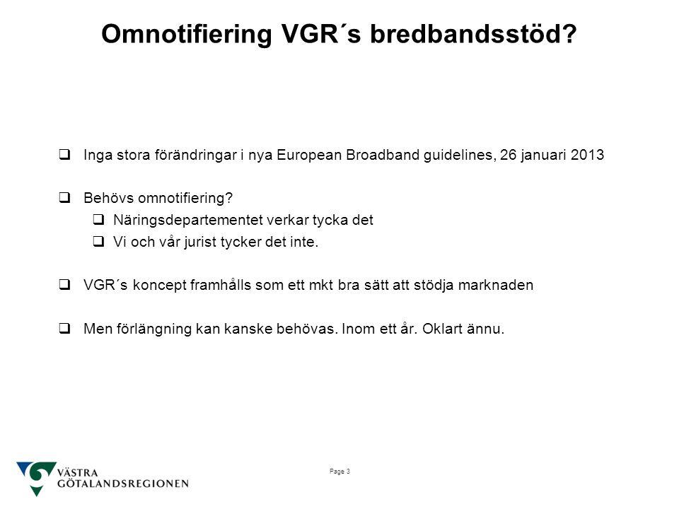 Omnotifiering VGR´s bredbandsstöd