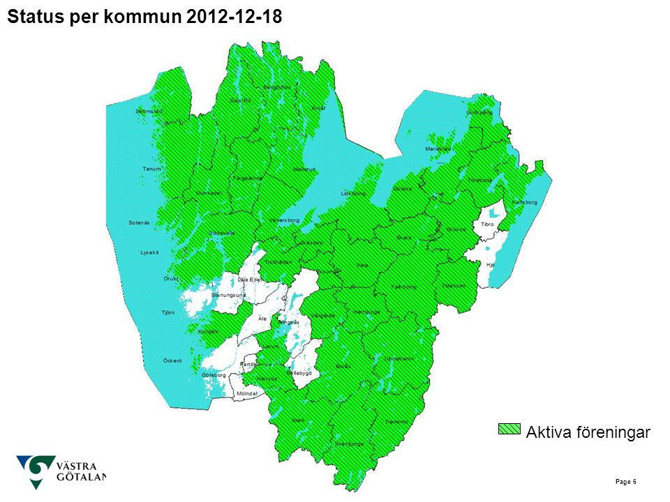 Status per kommun 2012-12-18 Aktiva föreningar Page 6