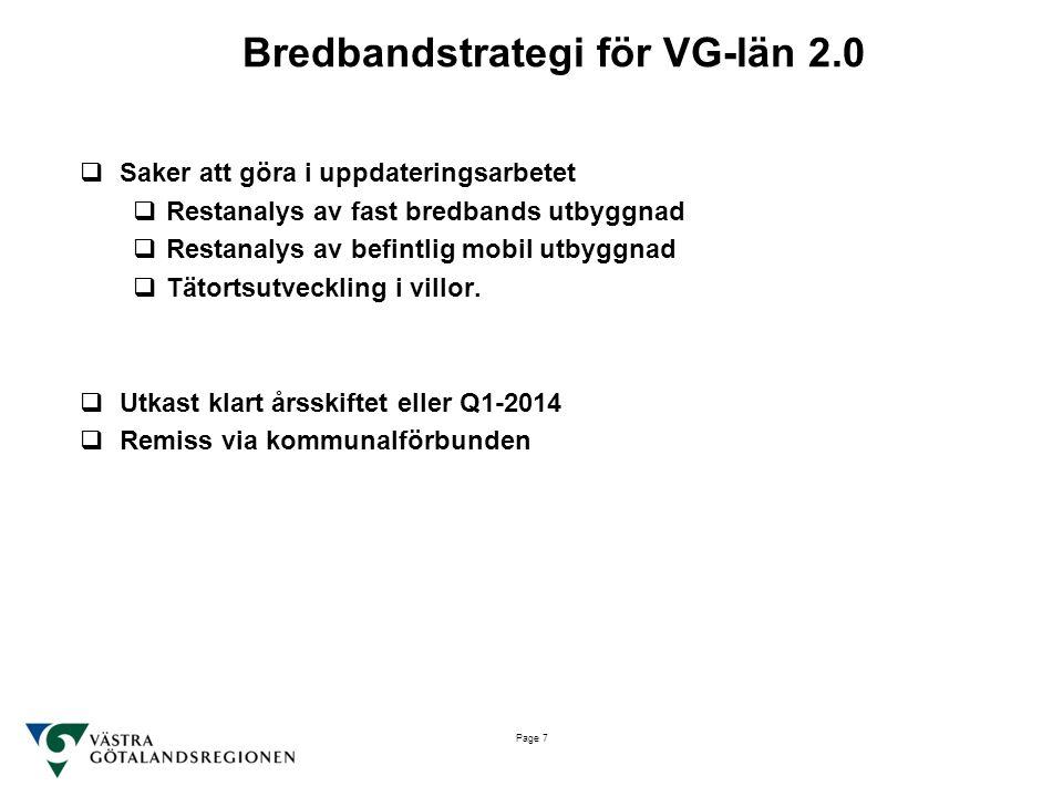 Bredbandstrategi för VG-län 2.0