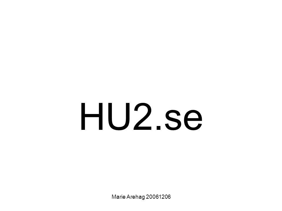 HU2.se Marie Arehag 20061206