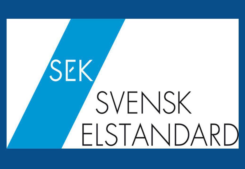 4 Svensk standard inom elområdet