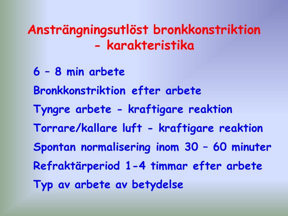 Ansträngningsutlöst bronkkonstriktion - karakteristika