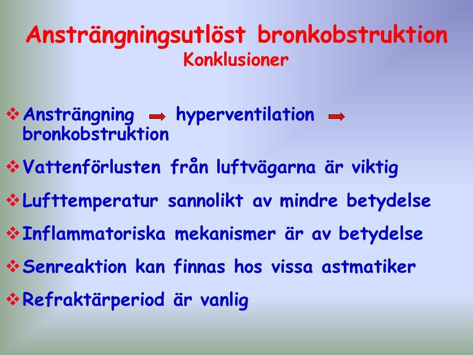Ansträngningsutlöst bronkobstruktion Konklusioner