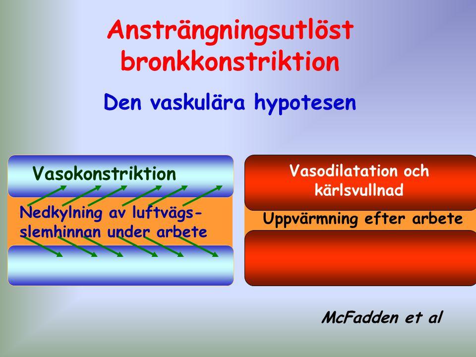 Ansträngningsutlöst bronkkonstriktion Den vaskulära hypotesen