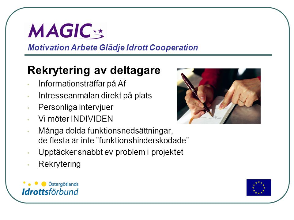 Motivation Arbete Glädje Idrott Cooperation