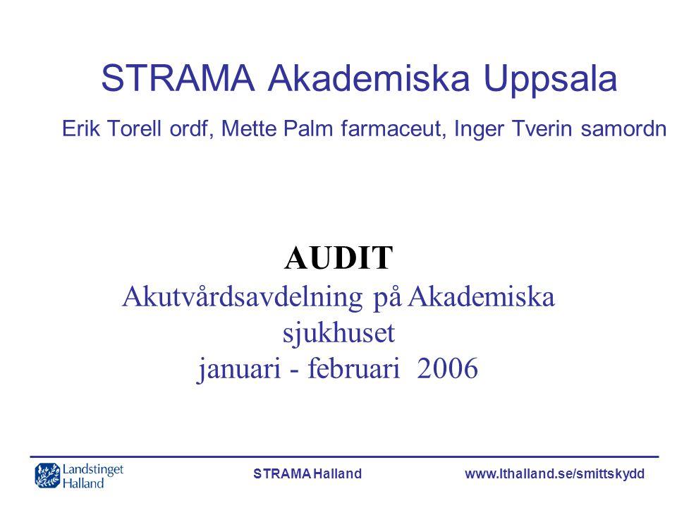 STRAMA Akademiska Uppsala Erik Torell ordf, Mette Palm farmaceut, Inger Tverin samordn