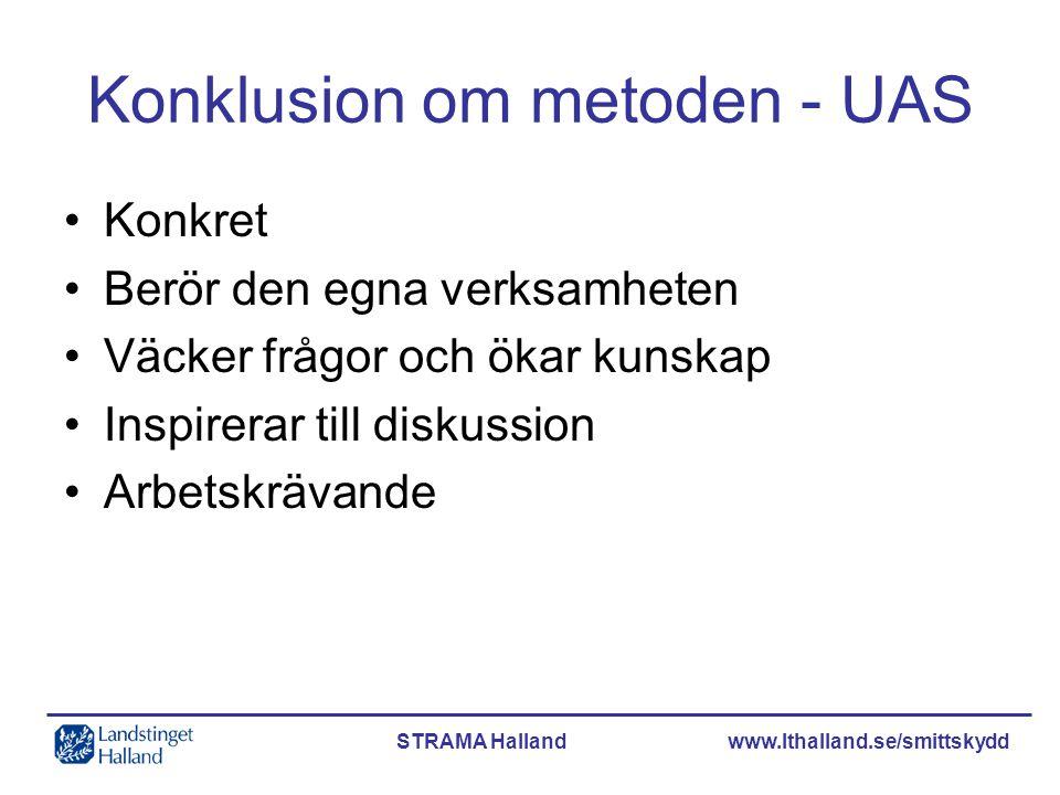 Konklusion om metoden - UAS