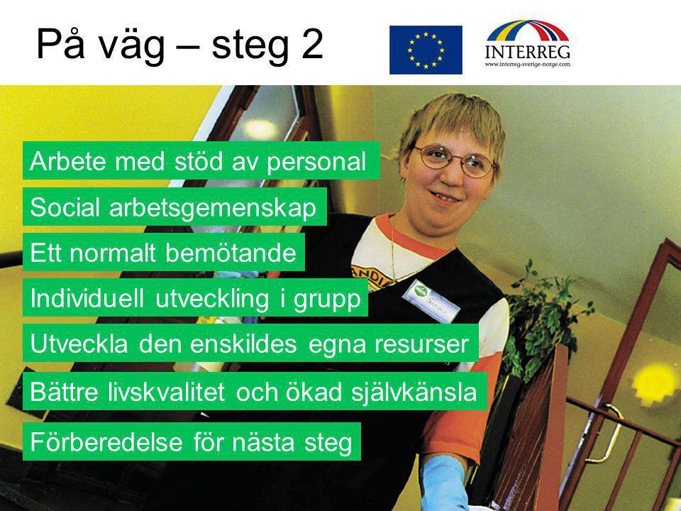 På väg – steg 2 Arbete med stöd av personal Social arbetsgemenskap