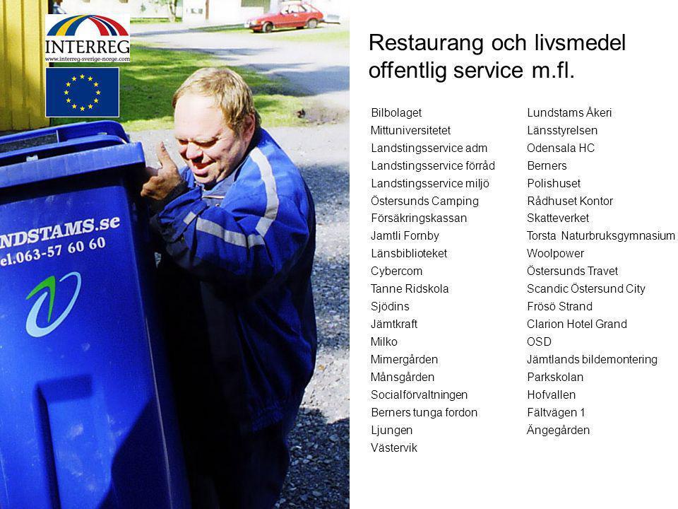 Steg 2 Restaurang och livsmedel offentlig service m.fl. Bilbolaget
