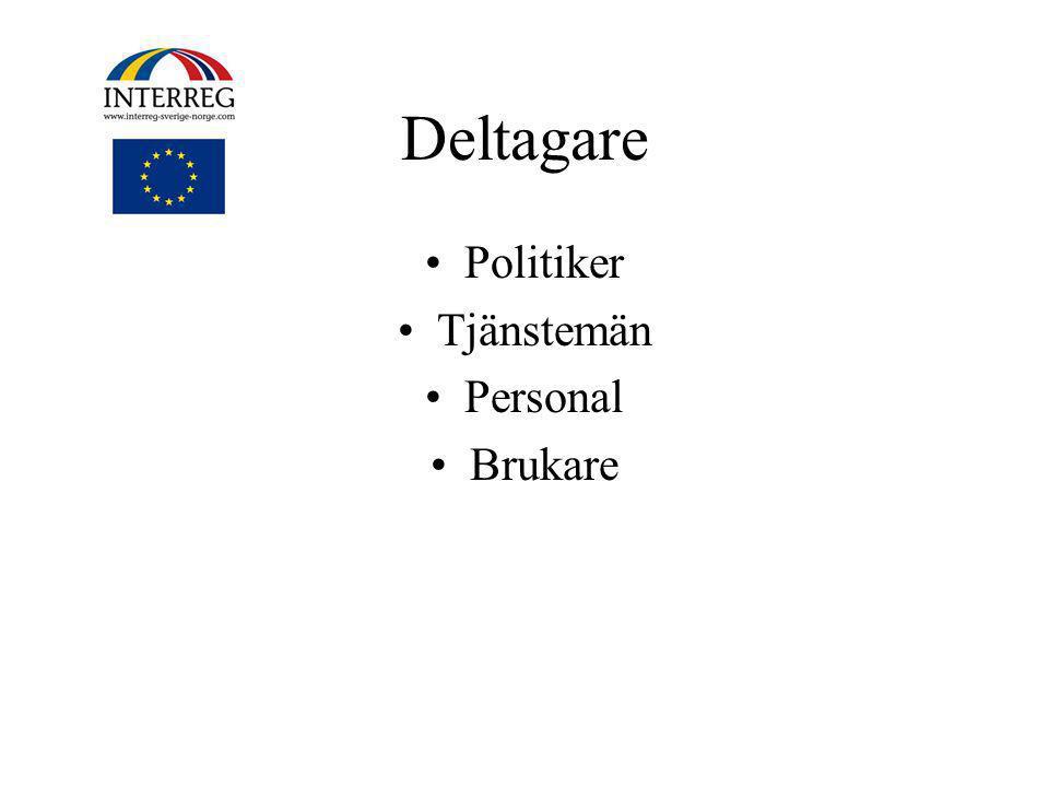 Deltagare Politiker Tjänstemän Personal Brukare