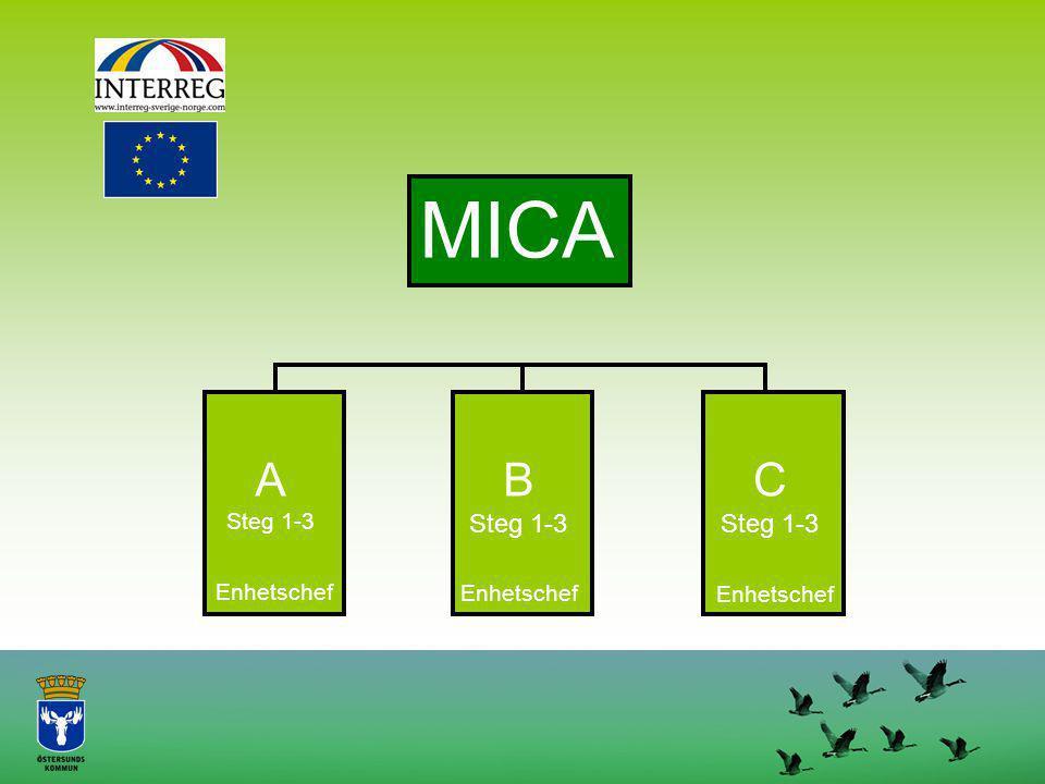 MICA A Steg 1-3 B Steg 1-3 C Steg 1-3 Enhetschef Enhetschef Enhetschef
