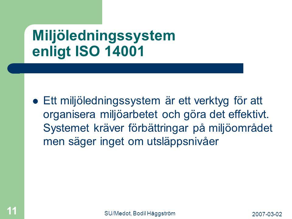 Miljöledningssystem enligt ISO 14001