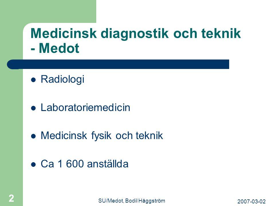 Medicinsk diagnostik och teknik - Medot