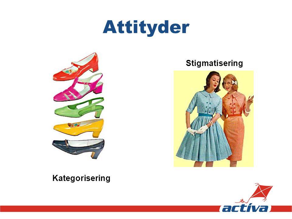 Attityder Stigmatisering Kategorisering