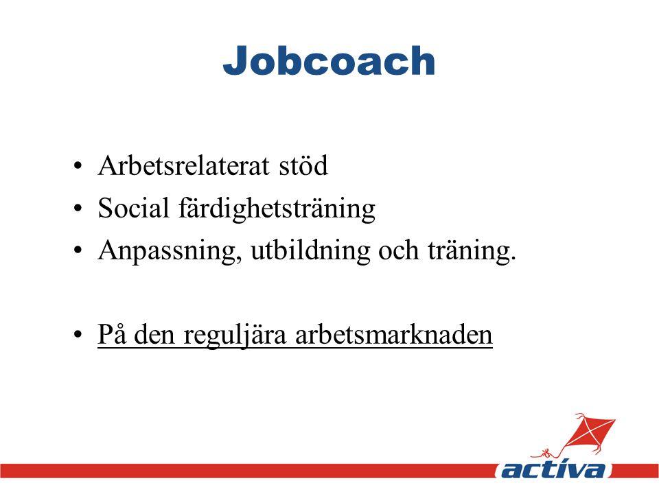 Jobcoach Arbetsrelaterat stöd Social färdighetsträning
