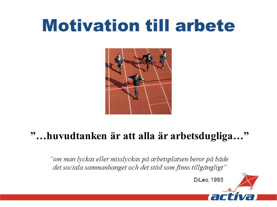 Motivation till arbete