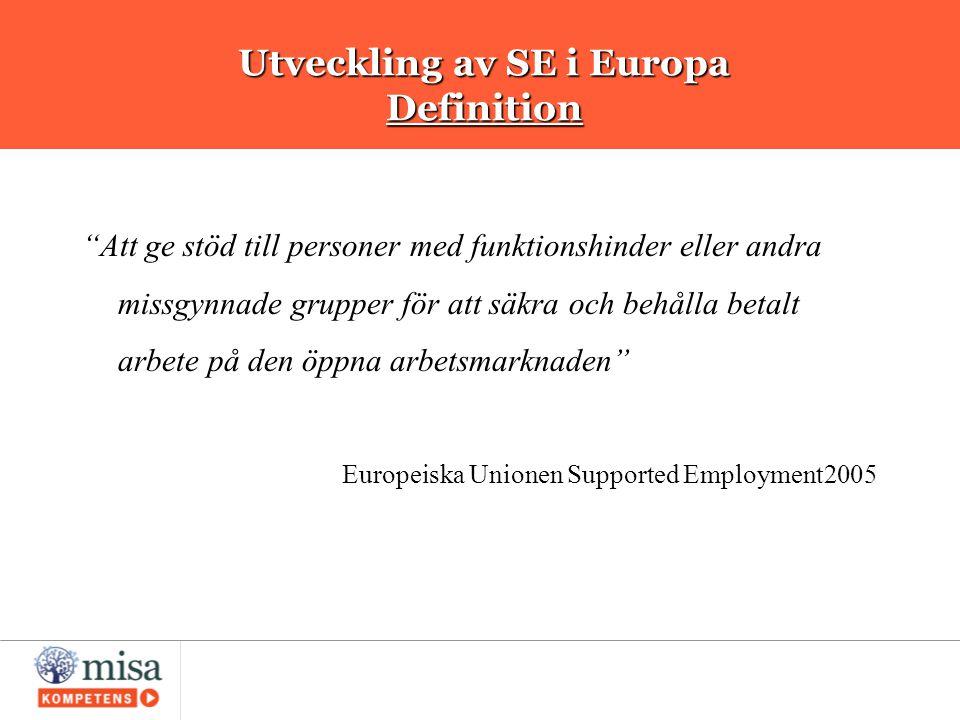 Utveckling av SE i Europa Definition
